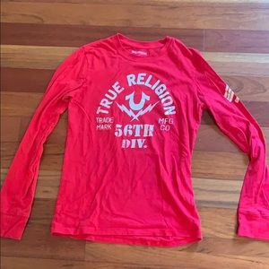True Religion long sleeves red sz S